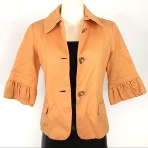 Vintage Orange Button Down Blazer